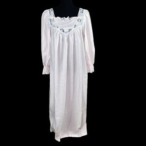 Vintage Sara Beth Satin And Flannel Pink Nightgown Size Large?