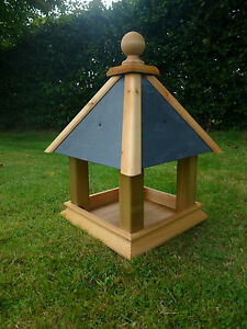 Image Is Loading Slate Roof PREMIER PYRAMID Bird Table Feeder House