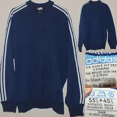ADIDAS Vintage 7080's Felpa Tennis Sweater Jacket Jacke Made West G 8 L Rare! | eBay