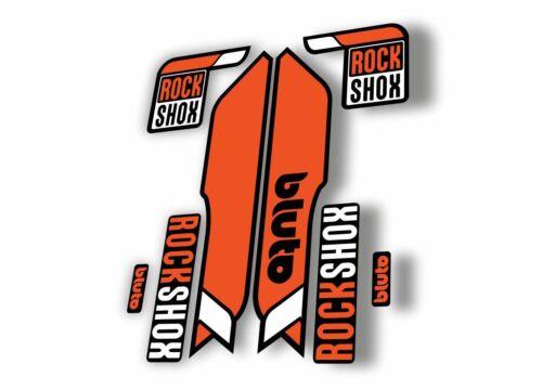 Rock Shox BLUTO Mountain Bike Cycling Fork Decal Kit Sticker Adhesive Orange