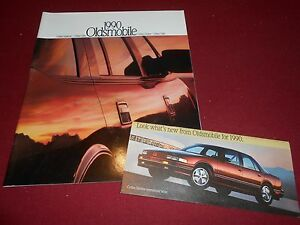 1990 Oldsmobile 32-page Car Sales Brochure Toronado Cutlass Supreme Calais 98