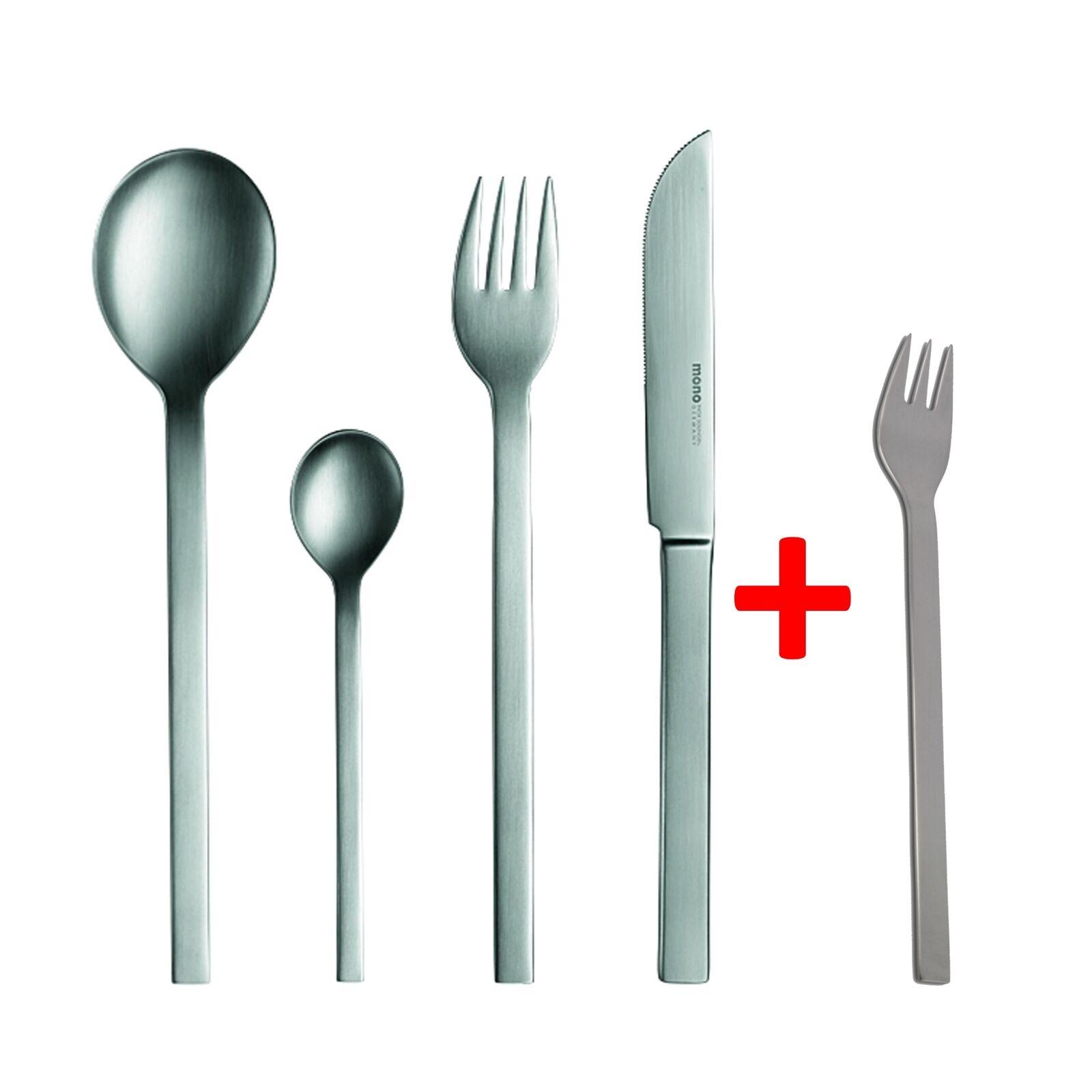 Mono couverts mono-A 24 pièces Mat à l'extérieur-long Couteau Lame 43 + 6 fourchettes à gateau