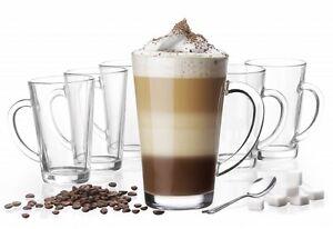 6 latte macchiato gl ser 300 ml mit henkel und 6 edelstahl l ffeln gratis 709238502491 ebay. Black Bedroom Furniture Sets. Home Design Ideas