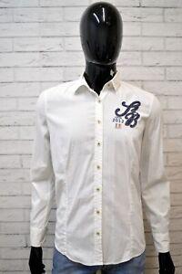 Camicia-Bianca-Uomo-GAASTRA-Taglia-M-Camicetta-Manica-Lunga-Maglia-Shirt-Man