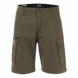 Homme-Jack-Jones-Fermeture-Eclair-Poches-Laterales-Basic-Short-Cargo-En-Vert