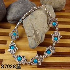 HOT Free shipping New Tibet silver multicolor jade turquoise bead bracelet S61B
