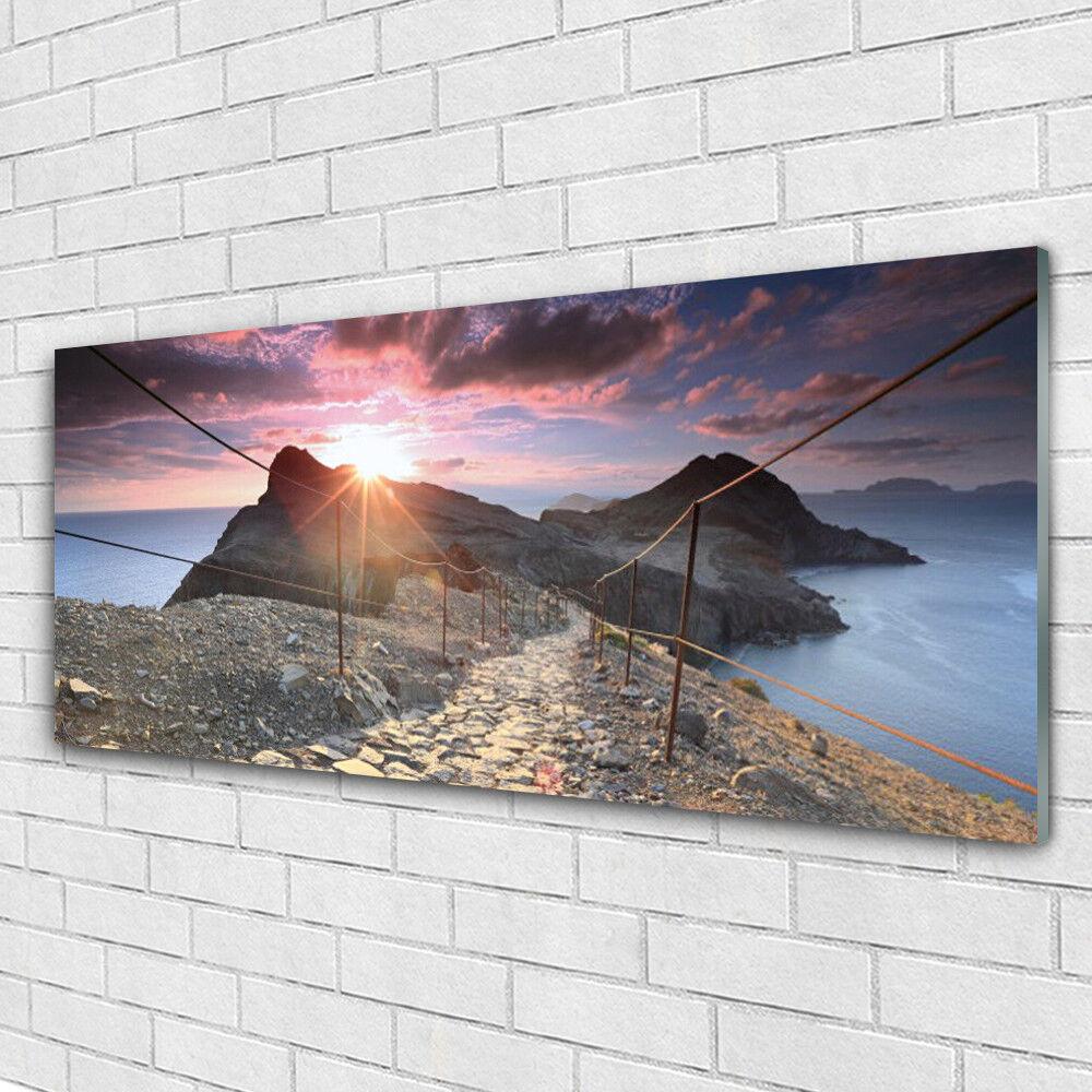 Bilder Acrylglasbilder Wandbilder aus Plexiglas® 125x50 Sonne Wüste Landschaft Ab 2000