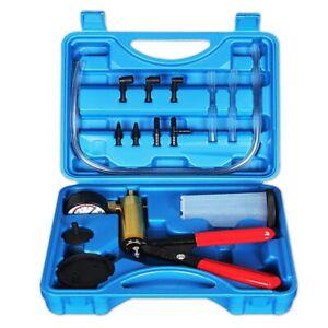 KIMISS Vacuum Pump Kit Auto Hand Held Vacuum Pump Pressure Tester Kit Brake Bleeder Test Tool
