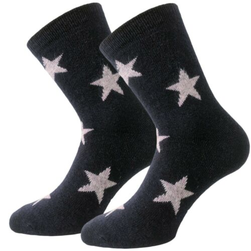 Calde calze da donna con Lana /& Angora 6er Pack Calzini A Maglia Motivo Stelle 35-42