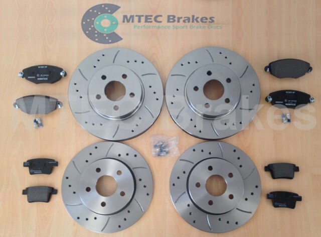 MONDEO mk3 DRILLED GROOVED BRAKE DISCS Front Rear Pads