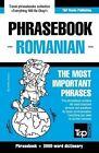 English-Romanian Phrasebook and 3000-Word Topical Vocabulary by Andrey Taranov (Paperback / softback, 2015)