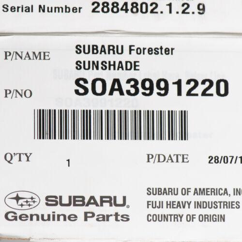 OEM 2009-2013 Subaru Forester Front Windshield Foldable Sunshade NEW SOA3991220