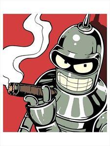 cigar smoking hedonist portrait hedonistic robot bender
