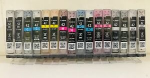 Lot-16-Virgin-Empty-Genuine-Canon-Cli-42-Inkjet-Cartridges-ALL-CLR-2-Full-sets