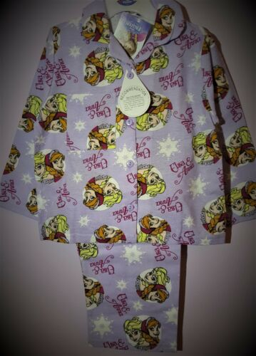 Frozen Pyjamas Girls Pj/'s Blue Elsa Anna Winceyette Pyjama Set BNWT T2TC160