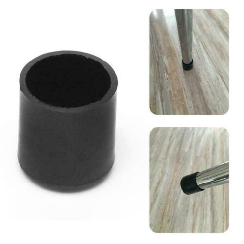 Black Rubber Protector Caps Scratch Cover For Chair Feet Table Leg I2O0