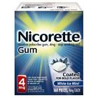 Nicorette Gum 4 mg Coated White Ice - 160-Count
