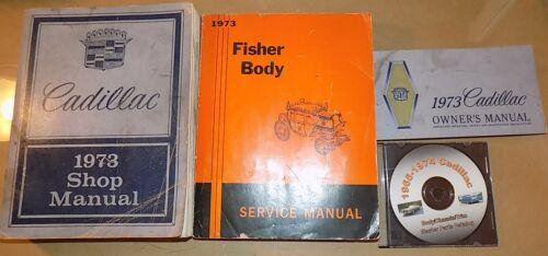1973 Cadillac ORIG Shop/_Owner/'s Manual 4pc SET/_DeVille//Eldorado//Calais//Fleetwood