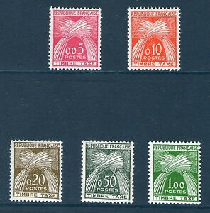 SERIE-TIMBRES-TAXE-90-94-NEUF-SANS-CHARNIERE-GOMME-ORIGINALE