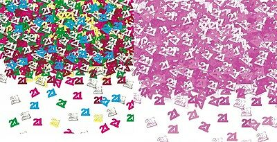 TABLE SPRINKLES PINK COLOUR TABLE DECORATIONS 4 PACK 40TH BIRTHDAY CONFETTI
