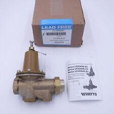 Watts Lead Free 34 Brass Fpt X Fpt Water Pressure Reducing Valve Lf25aub Z3
