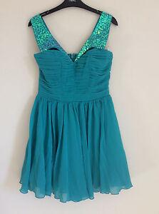 Womens Lipsy Jade Green Prom Dress Size 8 10 Bnwt Ebay
