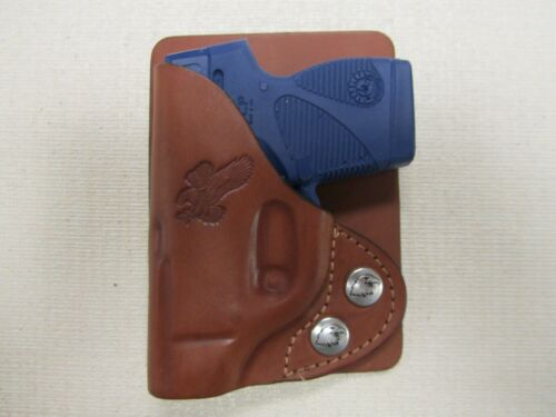 Taurus Tcp BROWN formed leather wallet /& pocket holster right hand