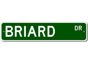 Briard  STREET SIGN ~ High Quality Aluminum ~ Dog Lover