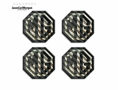 MG ZT ZR ZS Wheel Centres Caps Badges Black Carbon Silver 57mm Self Adhesive