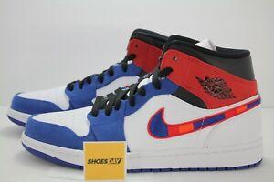 Air Jordan 1 Mid Se White University Red Rush Blue 852542 146