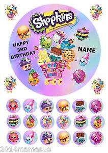 shopkins 7 5 round edible icing sheet birthday cake topper 22