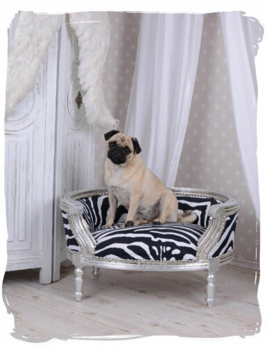 Zebra dog bed baroque sofa style cats pugs