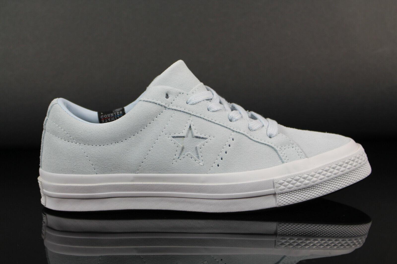 Neu Converse One Star OX Damen Turnschuhe Schuhe Sportschuhe Leder 158487C Freizeit