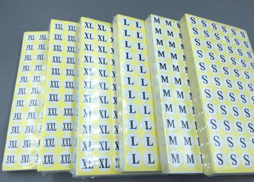 1320 Rond Unisexe Vêtements Vêtement Taille Étiquettes Autocollants S//M//L//XL//XXL//3XL