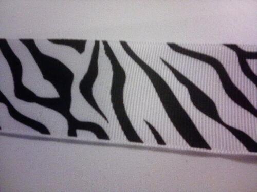 1 metre width 38mm Black /& White Ribbon