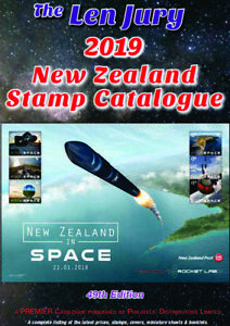 LEN-JURY-2019-NEW-ZEALAND-STAMP-CATALOGUE-1855-2019-COLOUR-49th-EDITION-NEW
