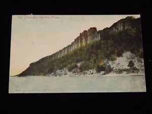 Vintage-Postcard-THE-PALISADES-NY-Hudson-River-To-Bronx-Parcel-Post-Stamp