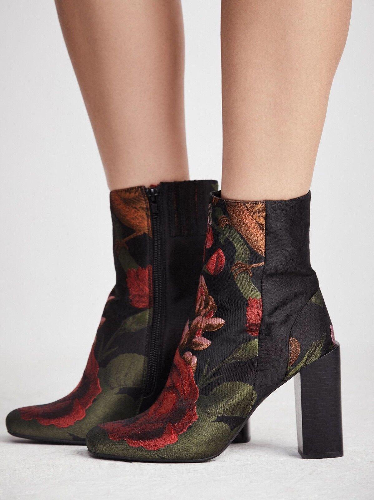 JEFFREY CAMPBELL STRATFORD damen's High Ankle Stiefel Floral Brocade 8M