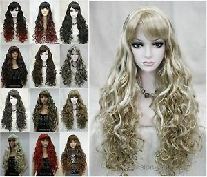 13-colors-Long-Fluffy-Curly-Wavy-Women-Ladies-Natural-Daily-wig-Hivision-33002A