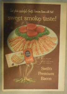 Swift-and-Company-Ad-Swift-039-s-Premium-Bacon-from-1940-039-s-Size-11-x-15-inches