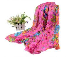 Rose Red Women Print Cotton fold Scarf Wrap Shawl Girls Large Scarves 176x106cm