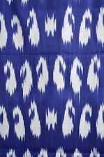 Summer SaIe! IKAT  Stoff Handarbeit  Meterware Baumwolle  Blau-Weiß Usbekistan