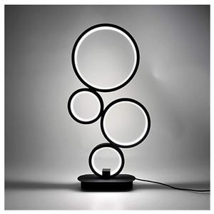 LED Nachttischlampen Dimmbar Tischleuchte 4 Kreis Schreibtischlampe Schlafzimmer