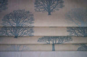 ONE-New-Roman-Blind-Lined-and-Interlined-Marson-trees-fabric-grey-blue