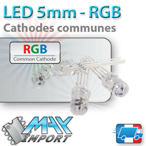 LED-RGB-5mm-Cathode-commune-Rouge-Vert-Bleu-Lots-multiples-prix-degressif