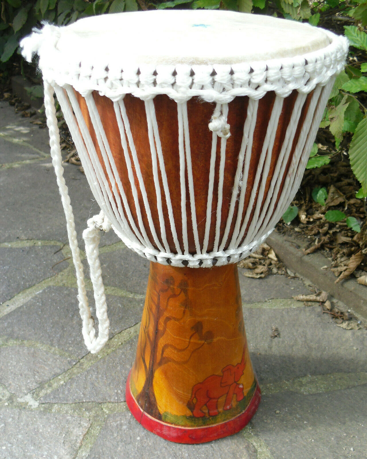 Original afrikanische Djembe, 42cm hoch