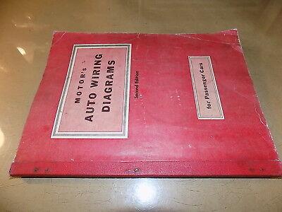 19461954 motor's auto wiring diagram  bookchrysler/cadillac/hudson/packard/ford  ebay