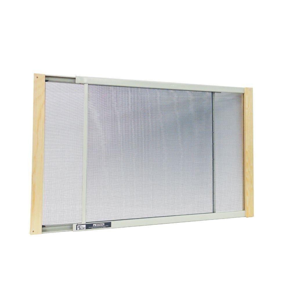 37in x 10in ALUMINUM ADJUSTABLE WINDOW SCREEN Heavy Dut