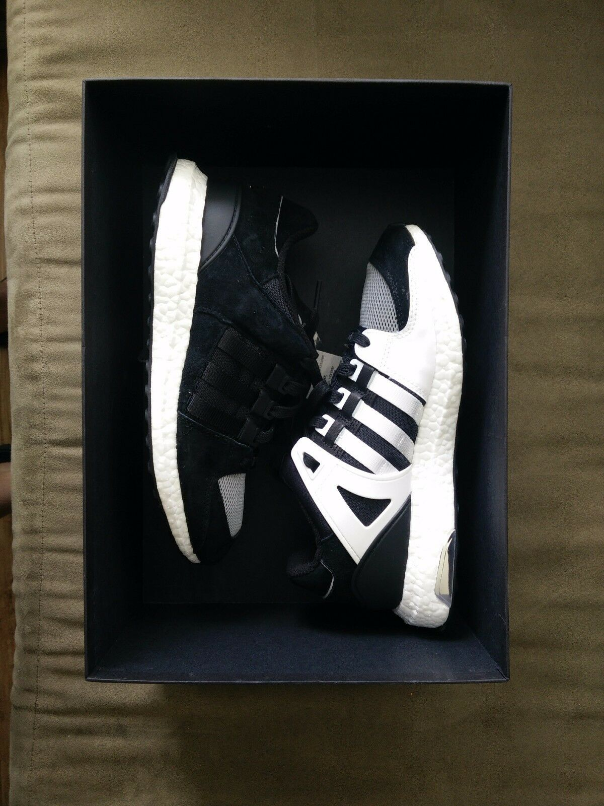 Adidas x Concepts EQT support Ultra Boost 93/16 Black White Size 8.5 US NEW