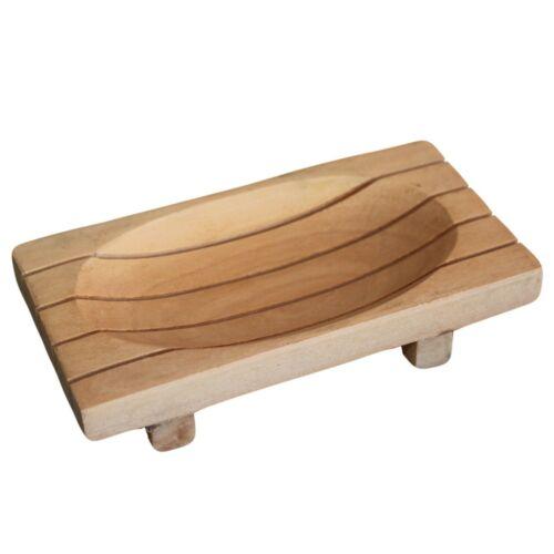 Edle Mahagoni Seifenschale Holz auf Füßen NEU